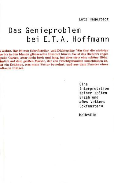 Das Genieproblem bei E.T.A. Hoffmann als Buch