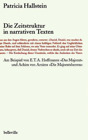 Die Zeitstruktur in narrativen Texten als Buch