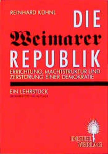 Die Weimarer Republik als Buch