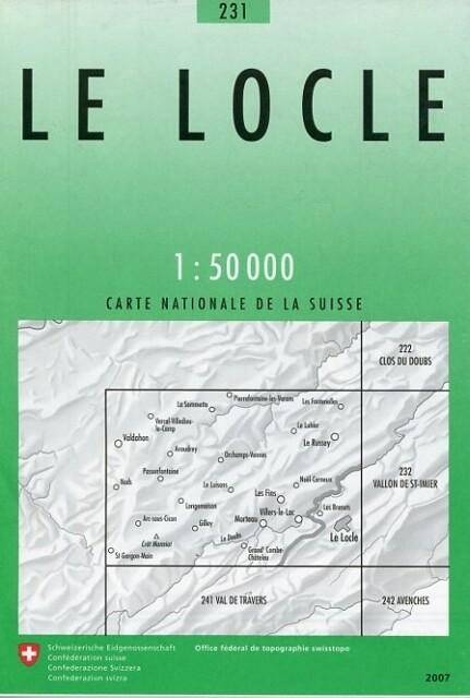 Swisstopo 1 : 50 000 Le Locle als Buch
