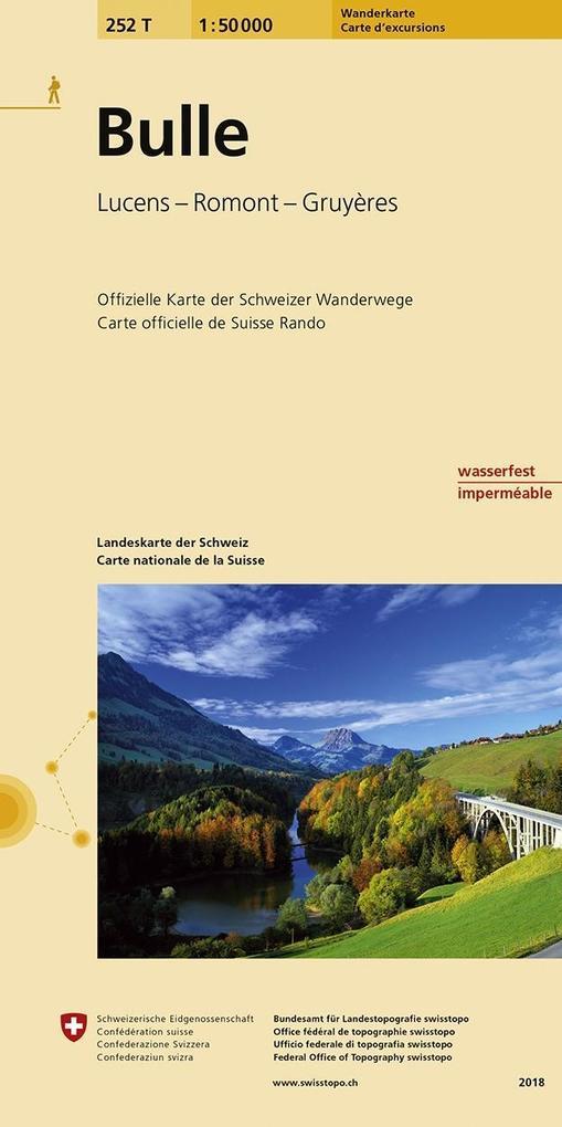 Swisstopo 1 : 50 000 Bulle als Buch