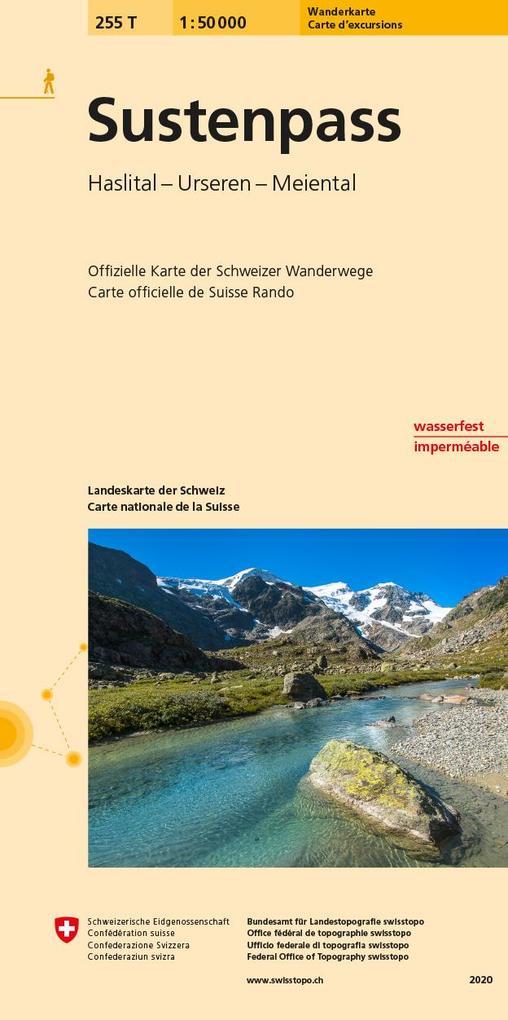 Swisstopo 1 : 50 000 Sustenpass als Buch
