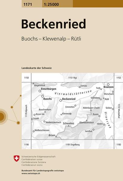 Swisstopo 1 : 25 000 Beckenried als Buch