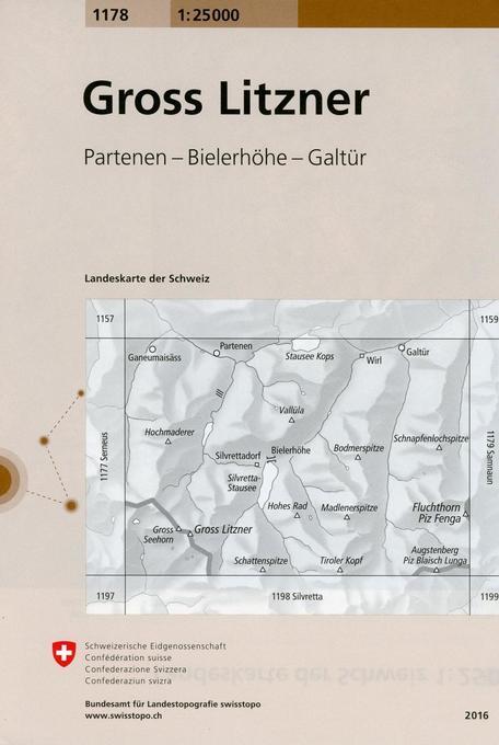 Swisstopo 1 : 25 000 Gross Litzner als Buch