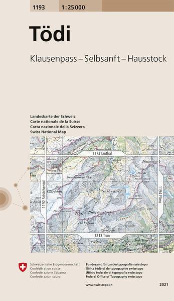 Swisstopo 1 : 25 000 Tödi als Buch