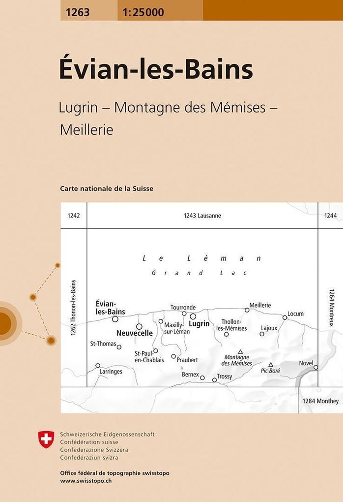 Swisstopo 1 : 25 000 Évian-les-Bains als Buch