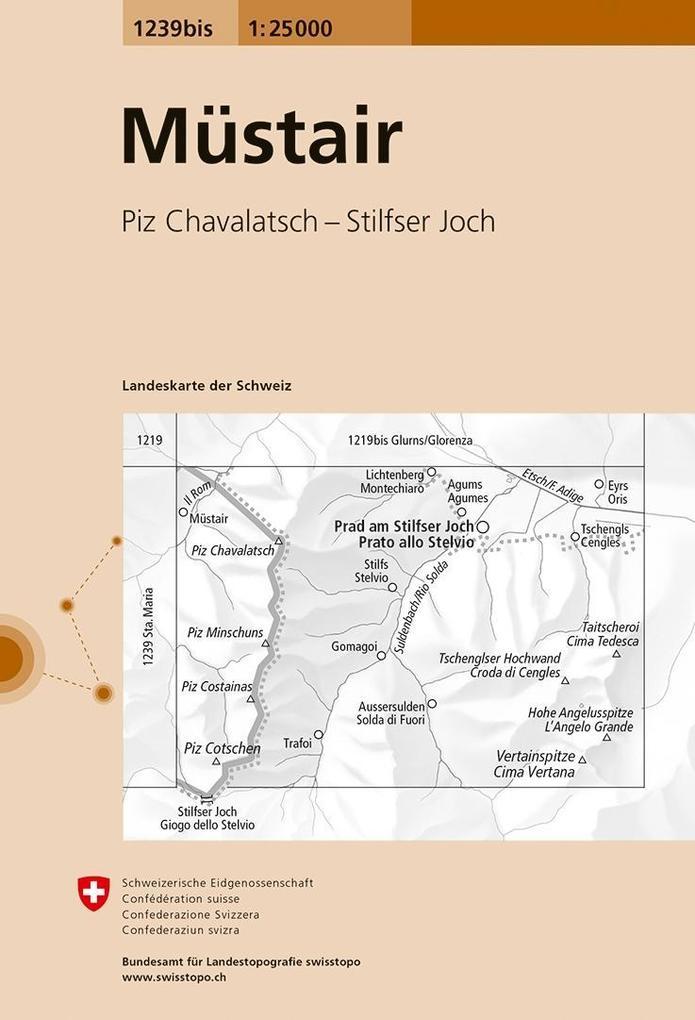 Swisstopo 1 : 25 000 Müstair als Buch
