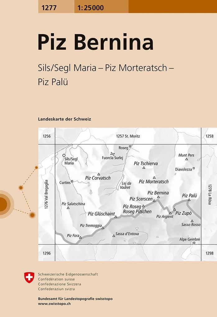 Swisstopo 1 : 25 000 Piz Bernina als Buch