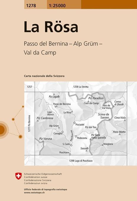 Swisstopo 1 : 25 000 La Rösa als Buch
