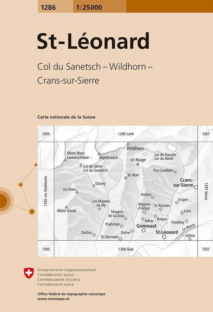 Swisstopo 1 : 25 000 St-Léonard als Buch