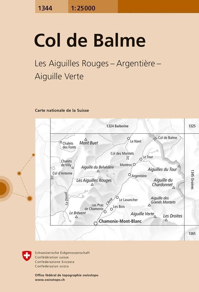 Swisstopo 1 : 25 000 Col de Balme als Buch