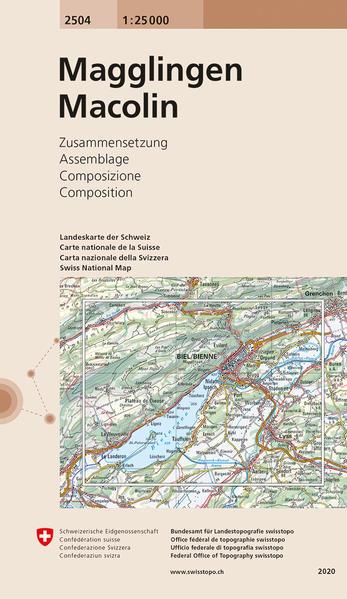 Swisstopo 1 : 25 000 Magglingen/Macolin als Buch