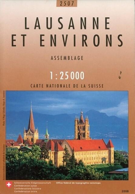 Swisstopo 1 : 25 000 Lausanne et environs als Buch