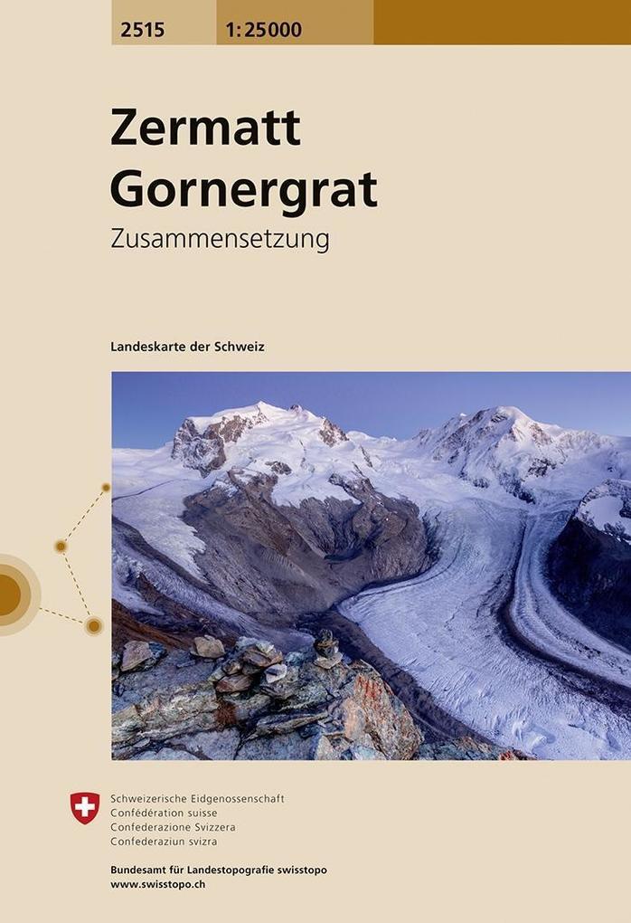 Swisstopo 1 : 25 000 Zermatt Gornergrat als Buch