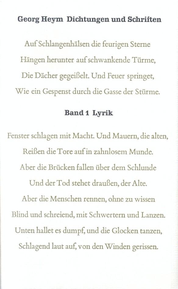 Dichtungen und Schriften Bd. 1: Lyrik als Buch