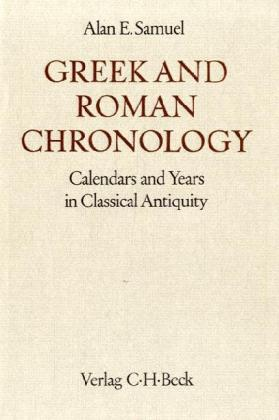 Greek and Roman Chronology als Buch