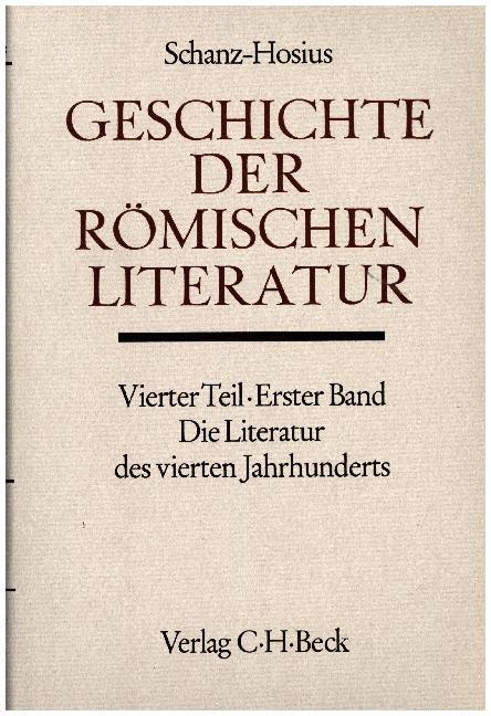 Geschichte der römischen Literatur, Die Literatur des 4. Jahrhunderts als Buch
