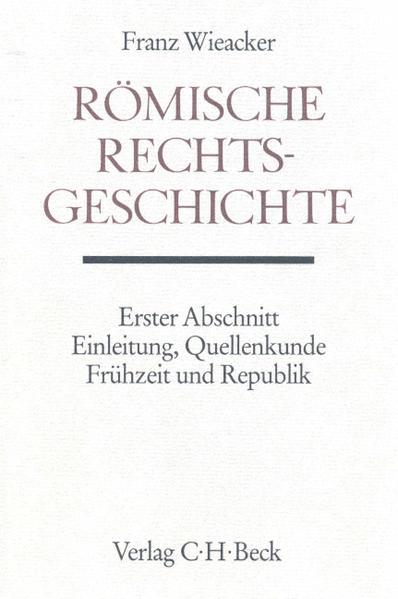 Römische Rechtsgeschichte als Buch