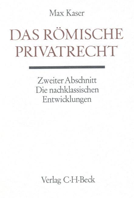 Das römische Privatrecht. Abschn.2 als Buch