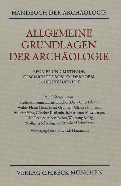 Allgemeine Grundlagen der Archäologie als Buch