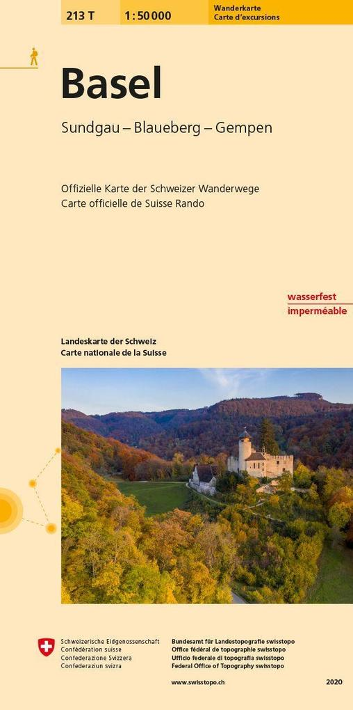 Swisstopo 1 : 50 000 Basel als Buch