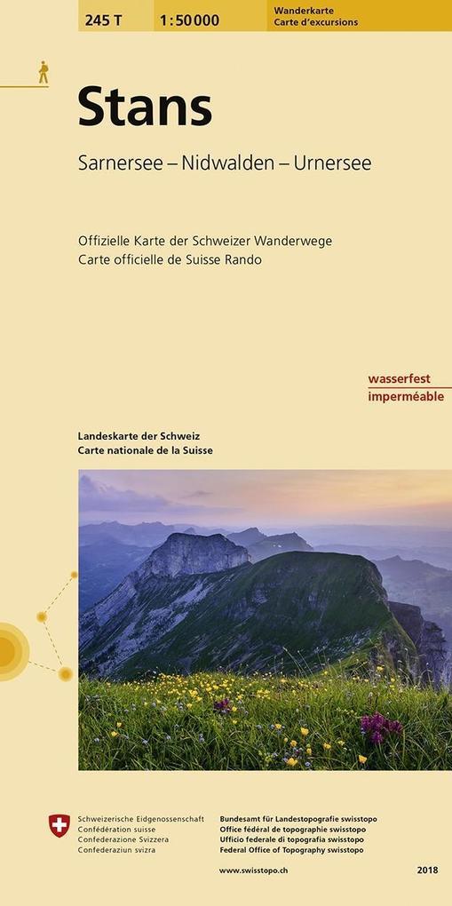 Swisstopo 1 : 50 000 Stans als Buch