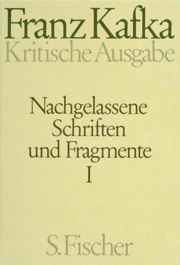 Nachgelassene Schriften und Fragmente I. Kritische Ausgabe als Buch