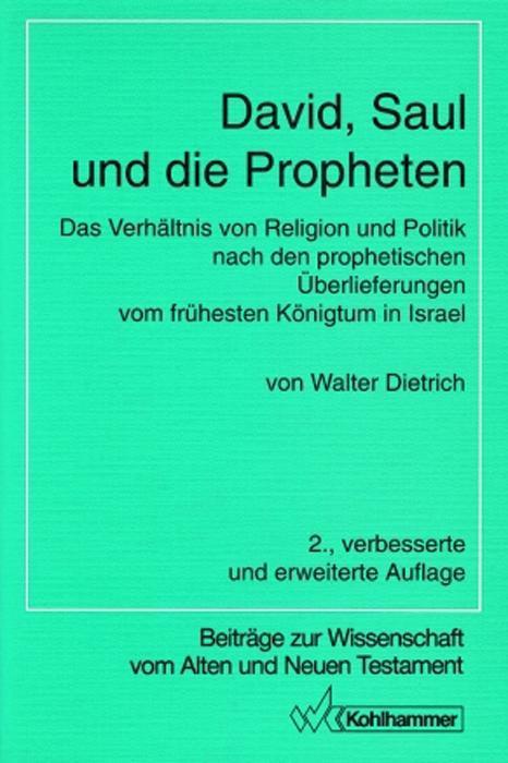David, Saul und die Propheten als Buch