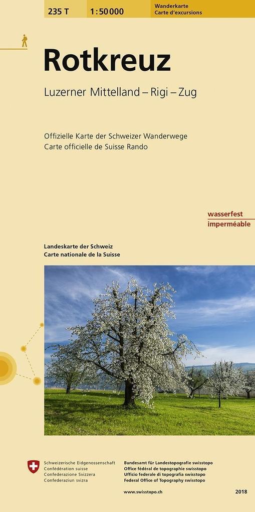 Swisstopo 1 : 50 000 Rotkreuz als Buch