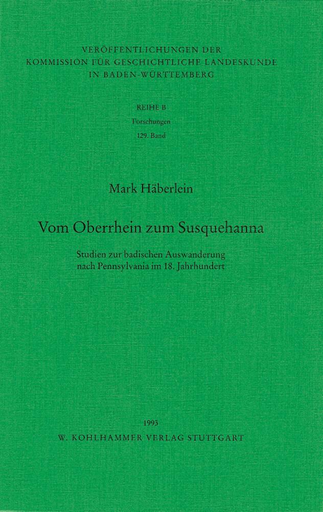 Vom Oberrhein zum Susquehanna als Buch