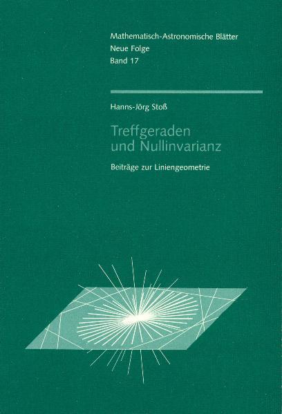 Treffgeraden und Nullinvarianz als Buch