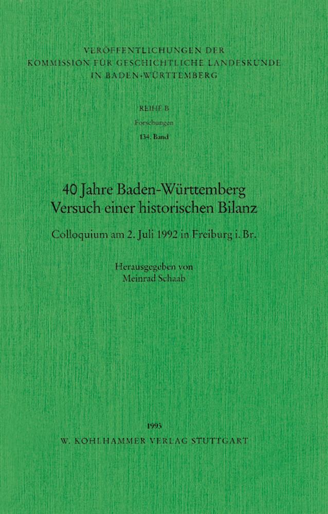 Vierzig Jahre Baden-Württemberg als Buch von