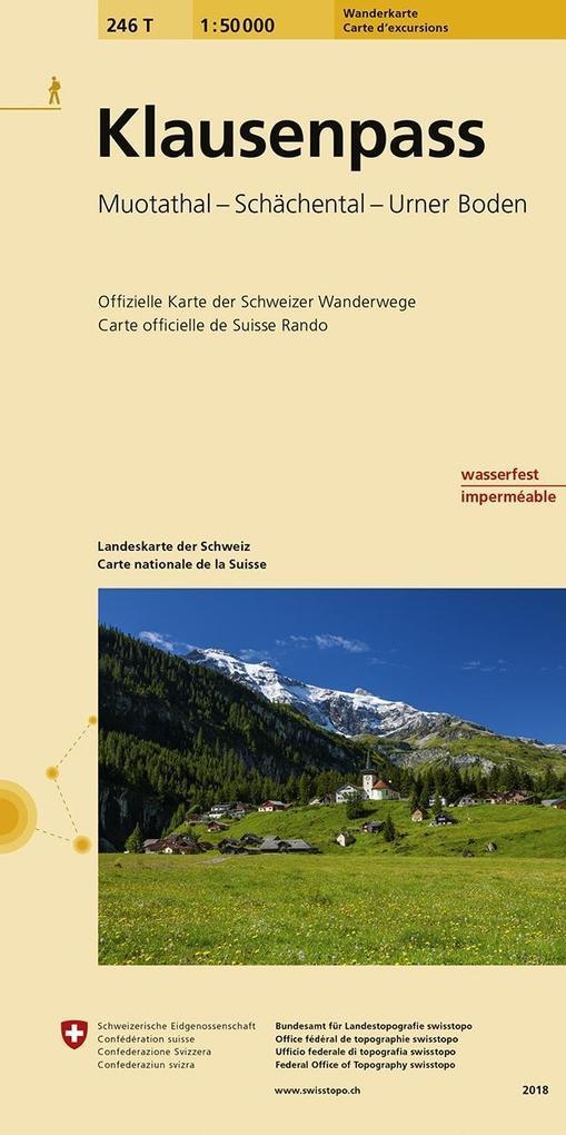 Swisstopo 1 : 50 000 Klausenpass als Buch