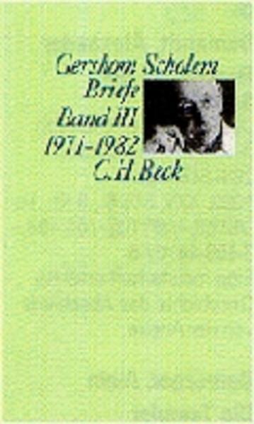 Scholem Briefe Bd. III: 1971-1982 als Buch