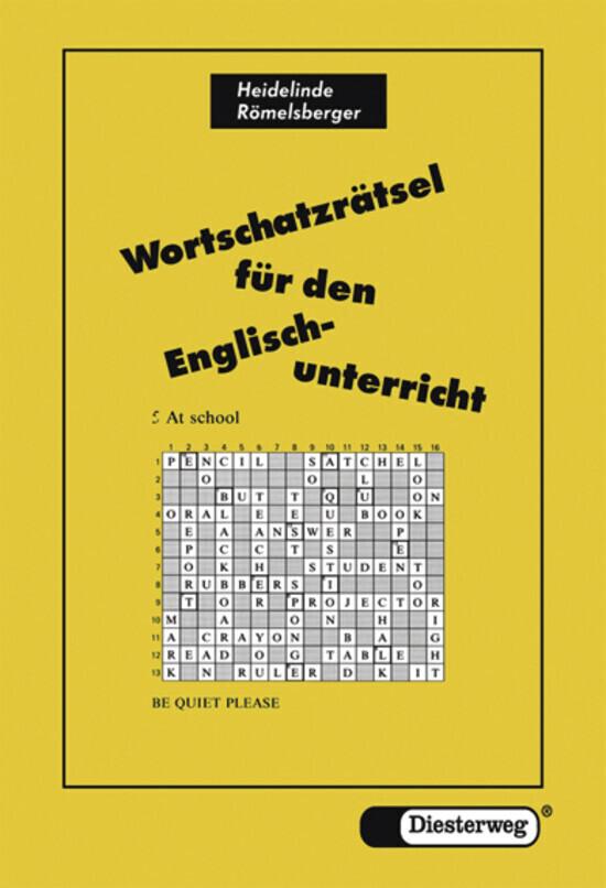 Wortschatzrätsel für den Englisch - Unterricht als Buch