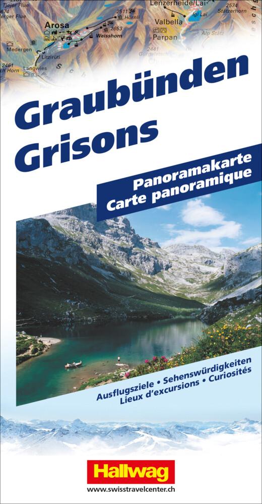 Graubünden Panoramakarte als Buch