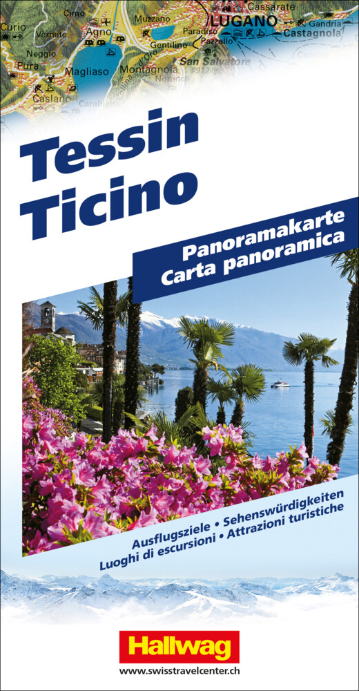 Tessin Panoramakarte als Buch