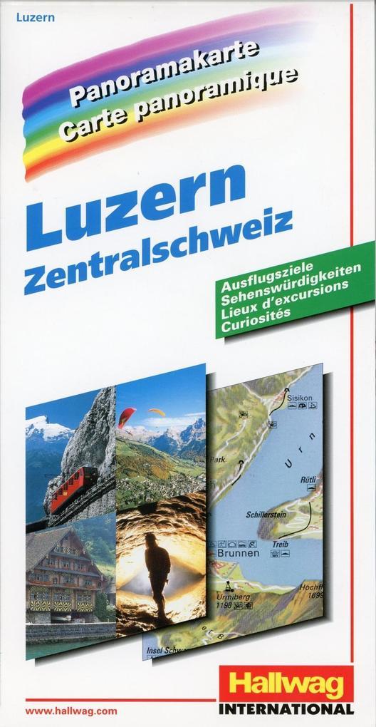 Zentralschweiz / Luzern Panoramakarte als Buch