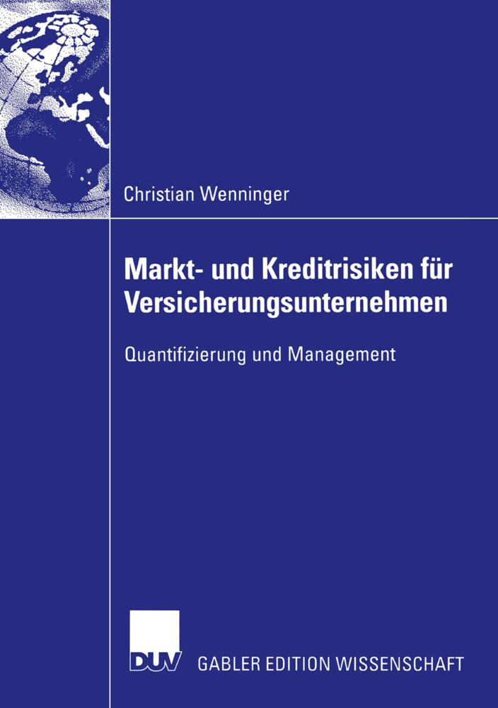 Markt- und Kreditrisiken für Versicherungsunternehmen als Buch