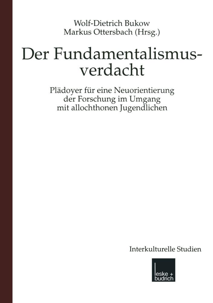 Der Fundamentalismusverdacht als Buch