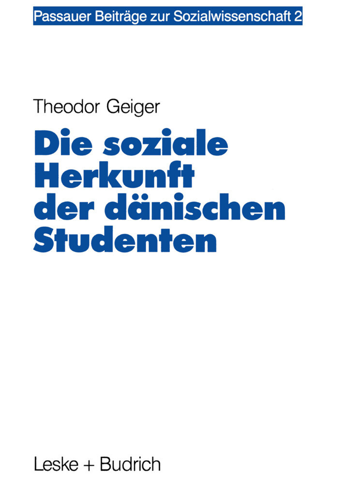 Die soziale Herkunft der dänischen Studenten als Buch