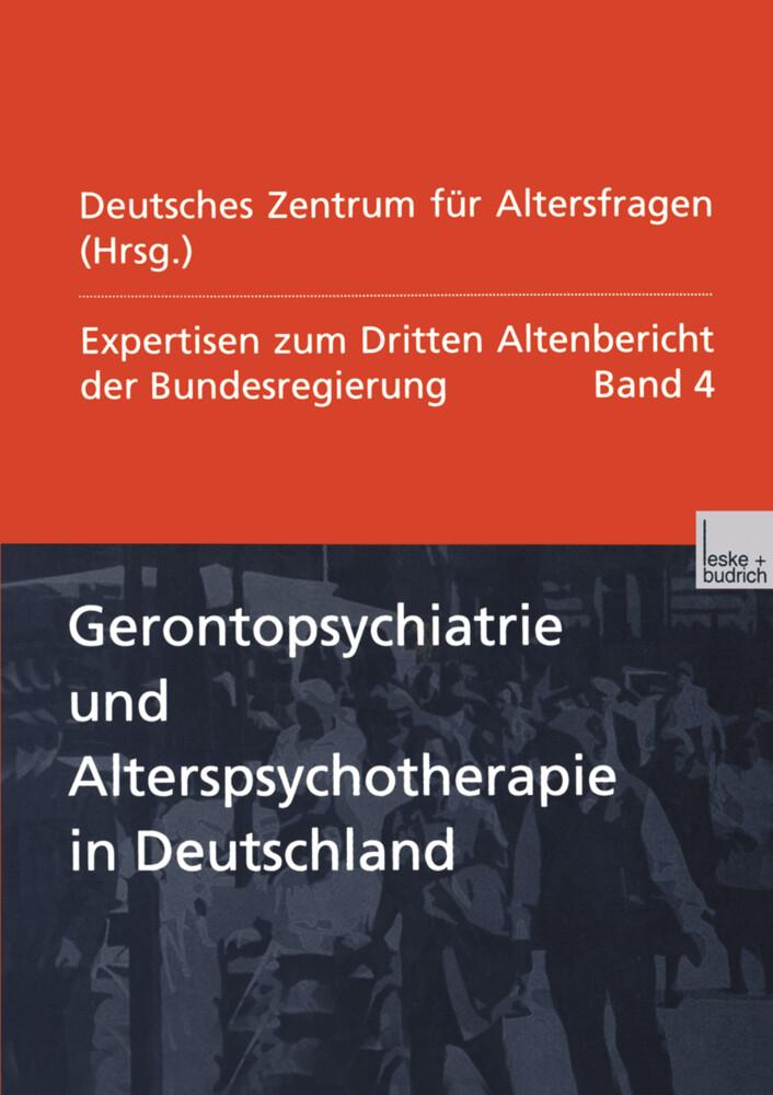Gerontopsychiatrie und Alterspsychotherapie in Deutschland als Buch