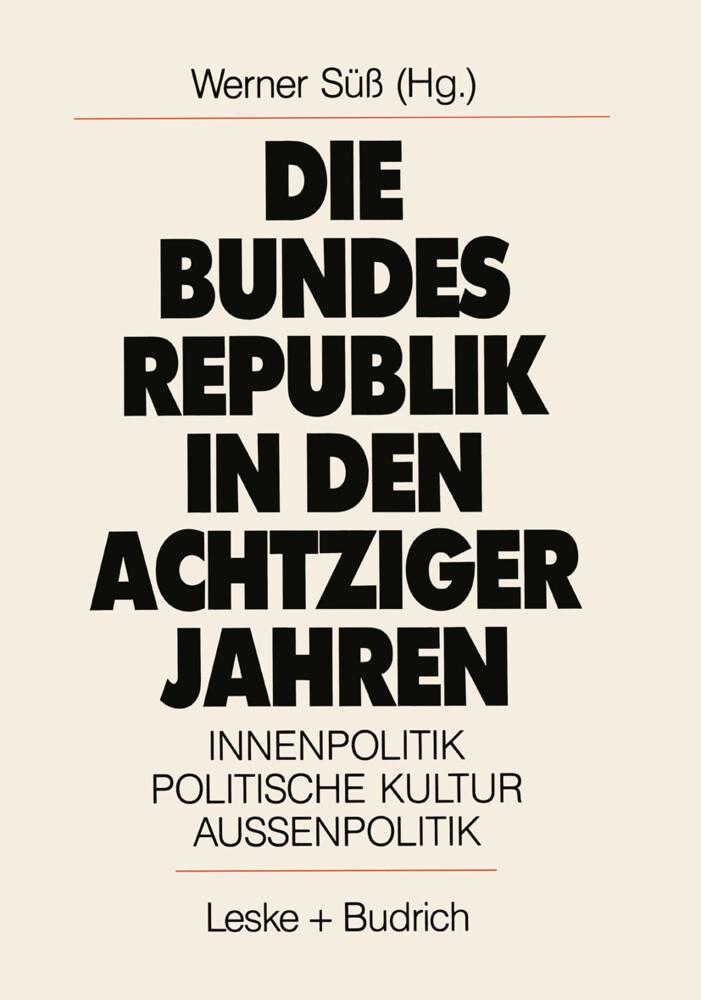 Die Bundesrepublik in den achtziger Jahren als Buch