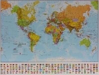 Weltkarte politisch klein als Buch