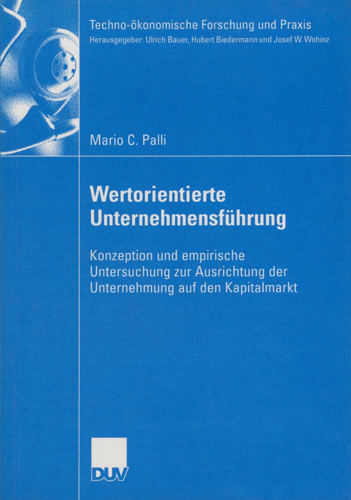Wertorientierte Unternehmensführung als Buch
