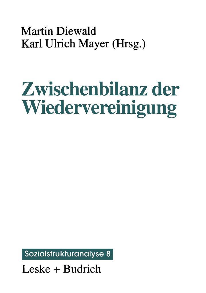 Zwischenbilanz der Wiedervereinigung als Buch