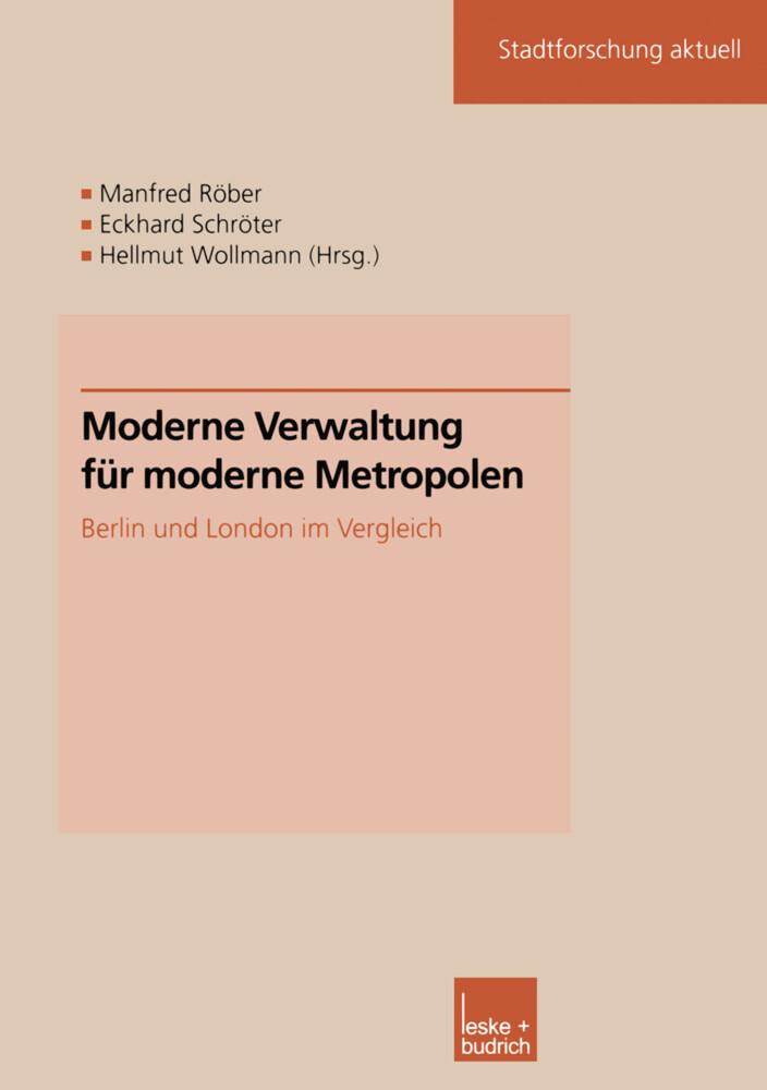 Moderne Verwaltung für moderne Metropolen als Buch