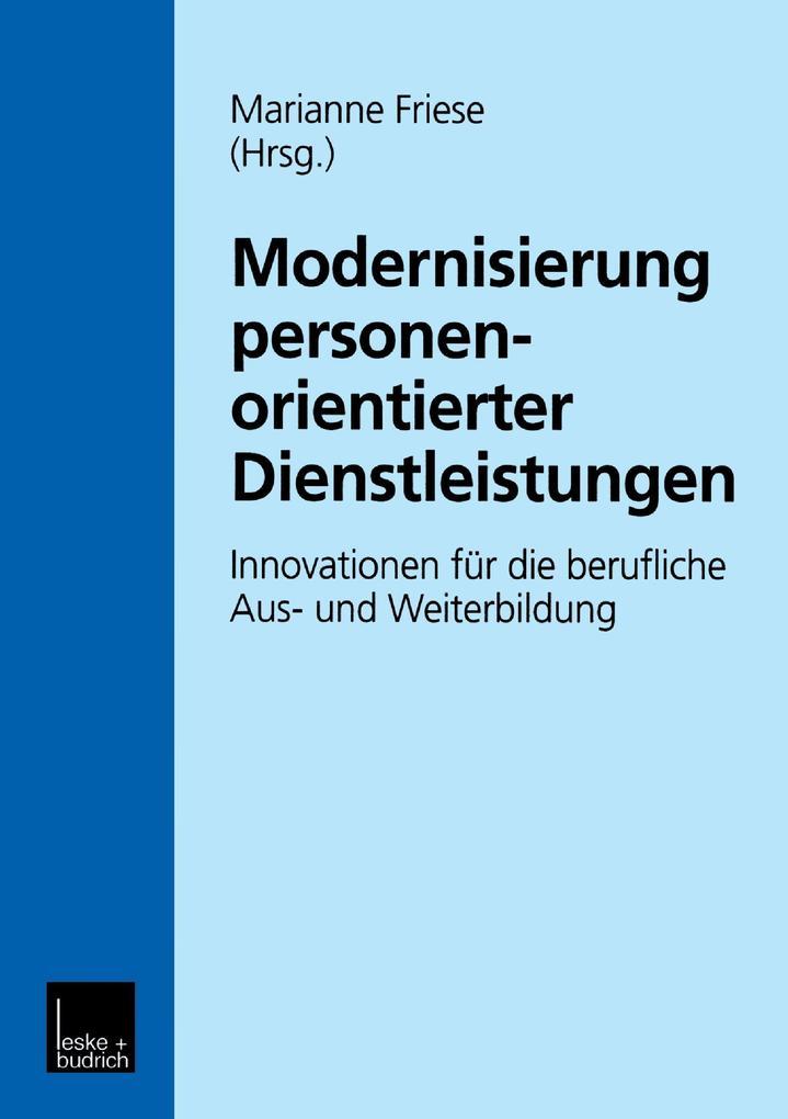 Modernisierung personenorientierter Dienstleistungen als Buch