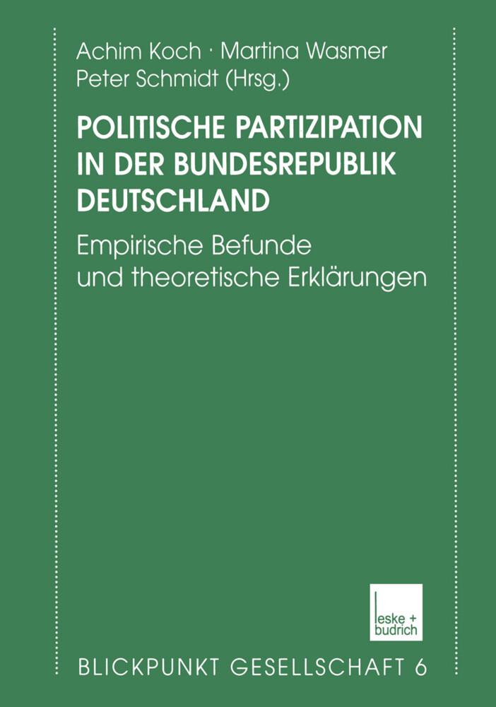 Politische Partizipation in der Bundesrepublik Deutschland als Buch