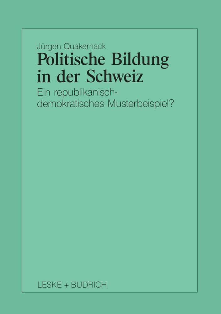 Politische Bildung in der Schweiz als Buch